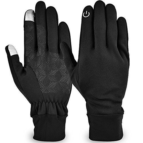 Lonew Touch Screen Gloves - Waterproof & Windproof Winter Warm Thermal Gloves For Outdoors Cycling Running Texting Fits Men and Women M