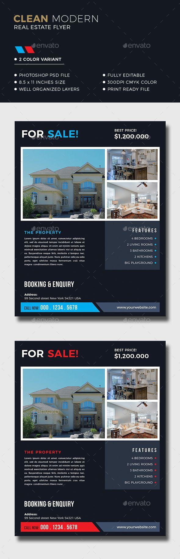 #Real #Estate #Flyer - Corporate Flyers Download here:  https://graphicriver.net/item/real-estate-flyer/20286592?ref=alena994