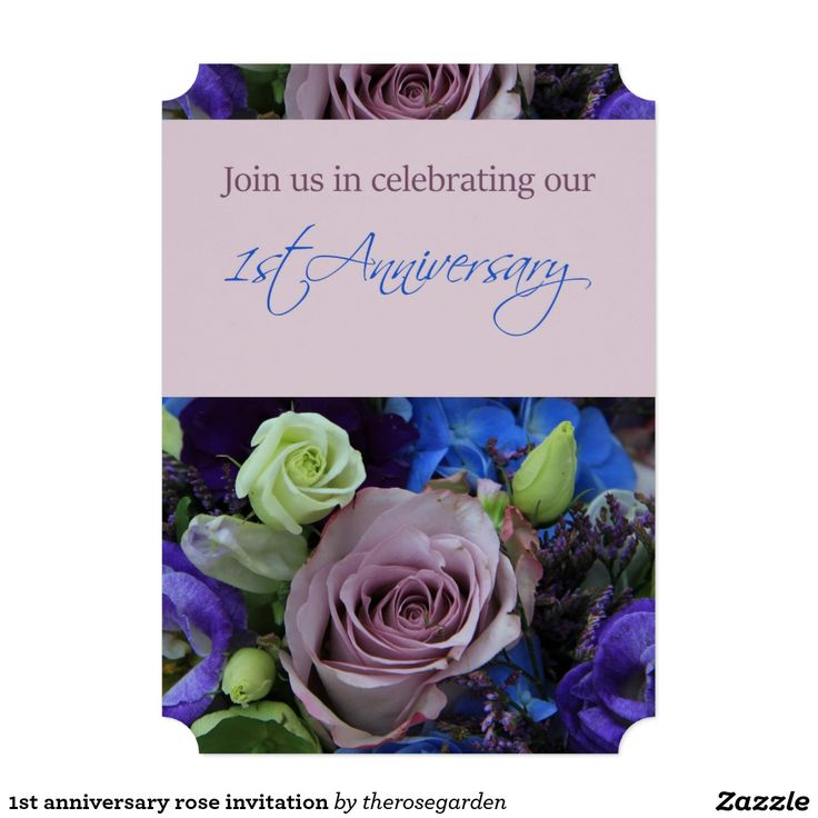 17 best 1st anniversary party invitations images on pinterest 1st anniversary rose invitation stopboris Gallery