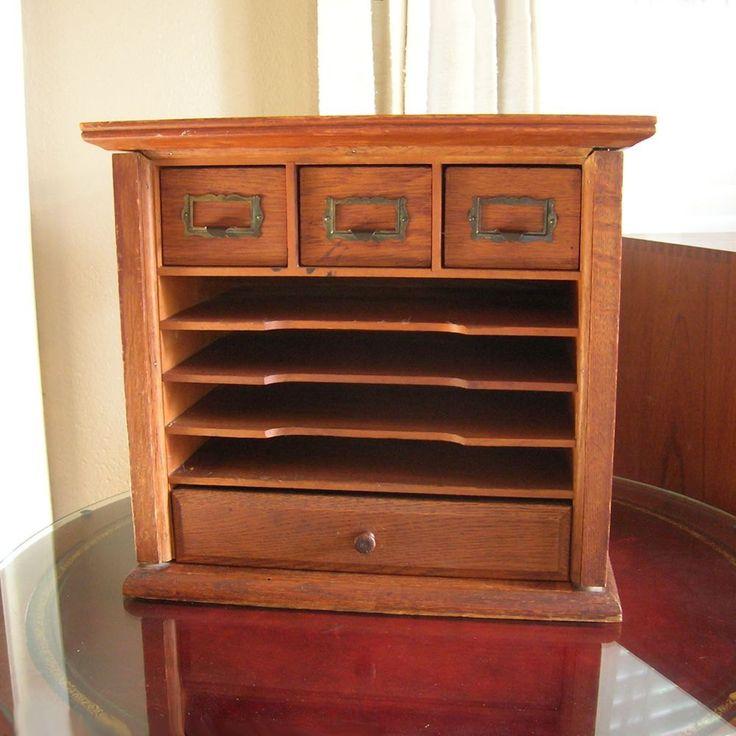 Solid Oak Desk Organizer, 1930, Craft Organizer, Scrap Booking, Bill  Keeper, · Living FurnitureOffice ...
