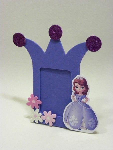 lembrancinha de EVA princesa Sofia