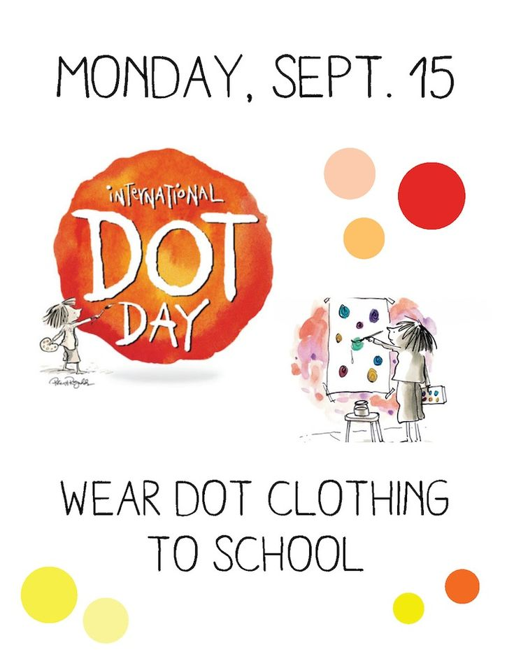 International Dot Day Clothing Poster #Dotday