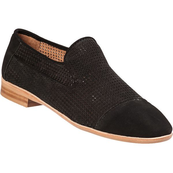 JEFFREY CAMPBELL Barkley Loafer Black Suede ($124) ❤ liked on Polyvore featuring shoes, loafers, black suede, low heel shoes, cap toe shoes, black suede shoes, black suede loafers and black rubber sole shoes