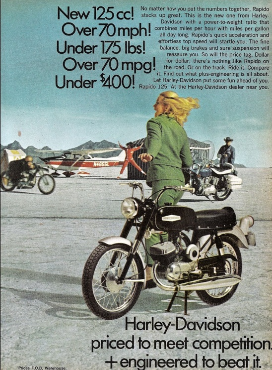31 best films en boeken images on pinterest biking motorbikes and harley ad for its 125cc fandeluxe Image collections