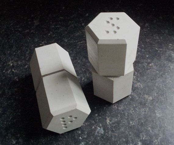 Concrete Salt & Pepper grinders from the home-ware collection by Vincent Sawyer