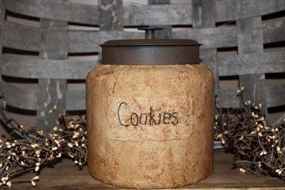 Rustic Cookie Jar Adorable 59 Best Primitively Antiquated Images On Pinterest  Cookie Monster Inspiration Design