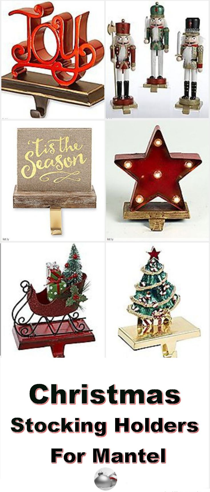 Get these Christmas stocking holders for mantle to brighten up your Christmas decor. They come in all kinds of colors, styles and designs that is sure to enhance your Christmas mantel.