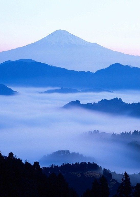 Beautiful Color ...blue mountains rise above the mist ...