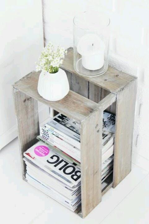 Mesita caja de madera