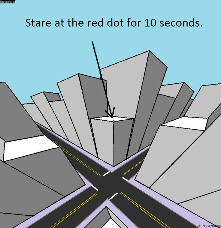 """""""Stare at the red dot for ten seconds"""" 