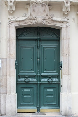 the doors of Paris... LOVE this color