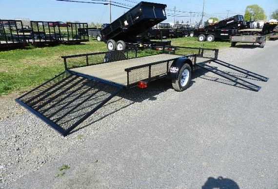 Carry-On 7 x 14 ATV Utility Trailer – Removable Ramps & Rear Gate | trailersuperstore.com
