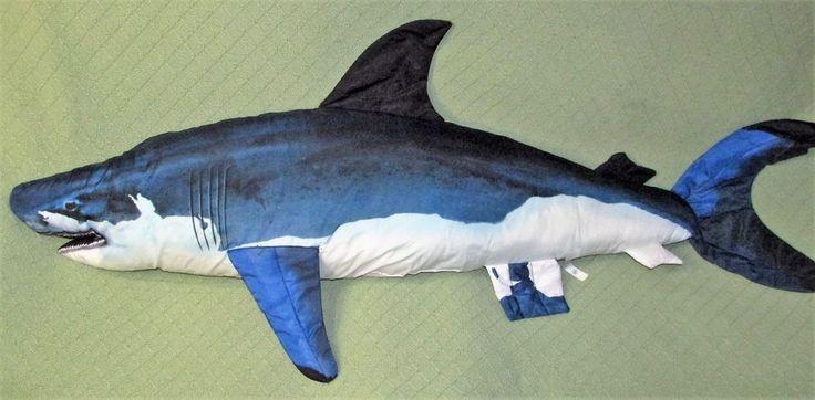 Tree House Kids Jumbo 52 Blue Shark Fish Plush Stuffed