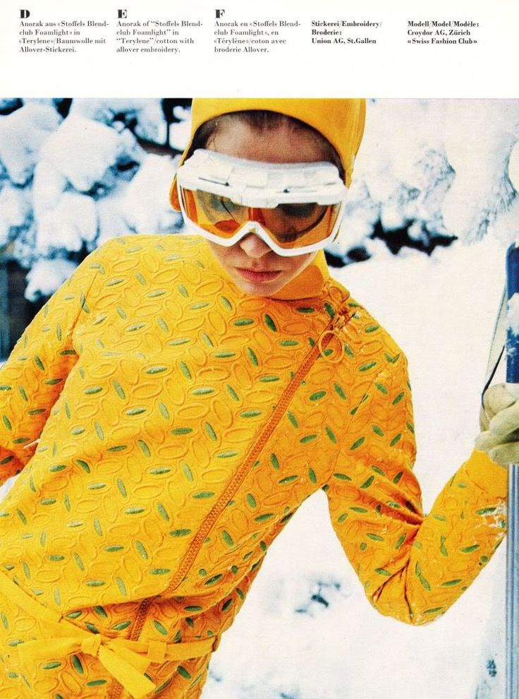 vintage ski fashion - yellow #DearTopshop