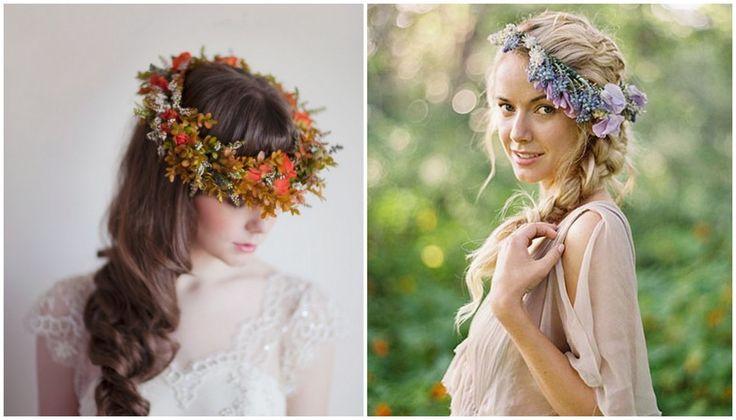 Bloemenkronen | De mooiste bruidskapsels van deze herfst