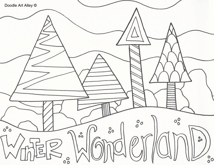 441 best Winter and Christmas Coloring Pictures images on