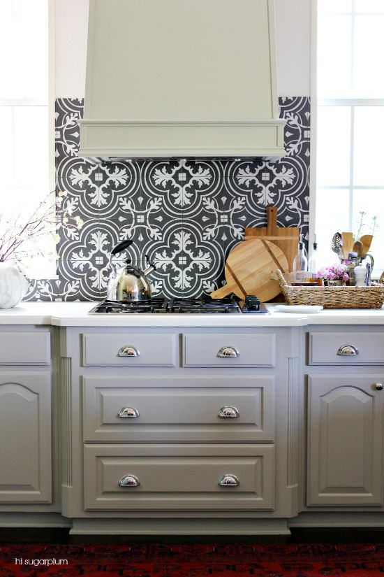 This room was completely transformed by adding paint to the cabinets & updated backsplash. Stylish accents from @HomeGoods brought it to life! (sponsored pin)