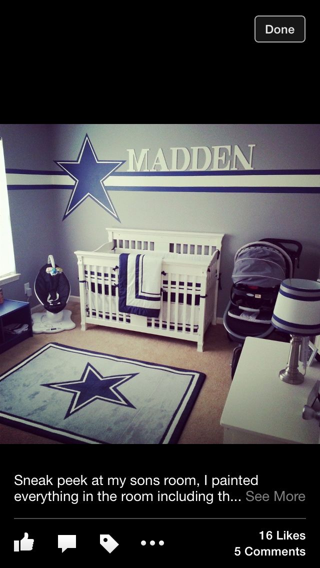 Dallas cowboys nursery.. I may have to find a cowboys baby daddy ;)