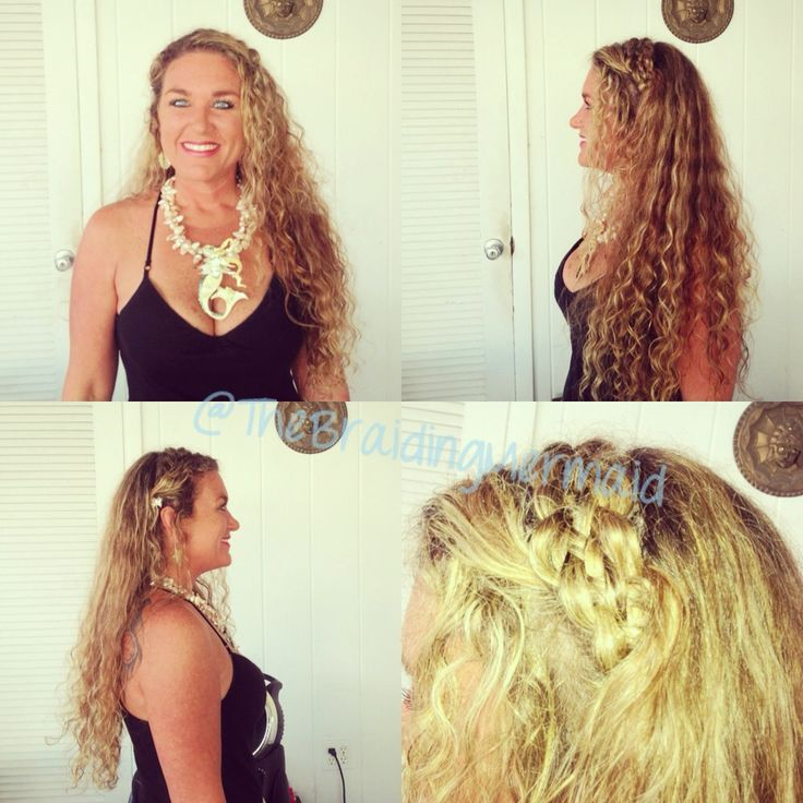 5 strand headband with hair pulled through braid from front using a topsy tail tool