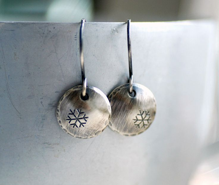 Winter Earrings, Silver Snowflake Earrings, Nature Jewelry, Whimsical Earrings, Sterling Silver Circle Earrings, Snowfall, Snowflake Jewelry by WildWomanJewelry on Etsy https://www.etsy.com/ca/listing/210758291/winter-earrings-silver-snowflake