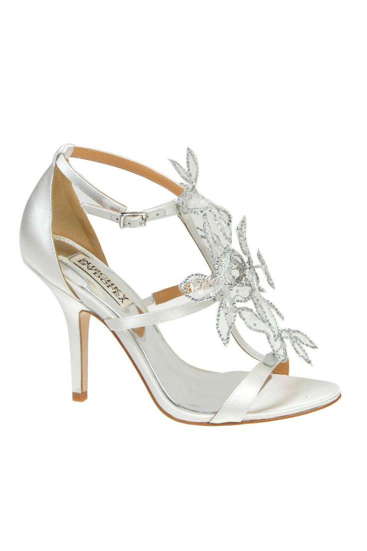 badgley mischka renita high heel sandal in white