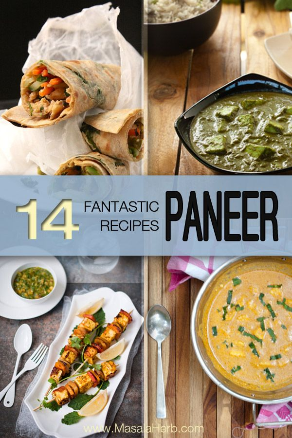 14 fantastic Paneer Recipes - Vegetarian Indian Cottage Cheese Dinner Idea! www.masalaherb.com