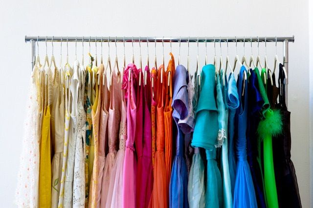 color coded closet :)