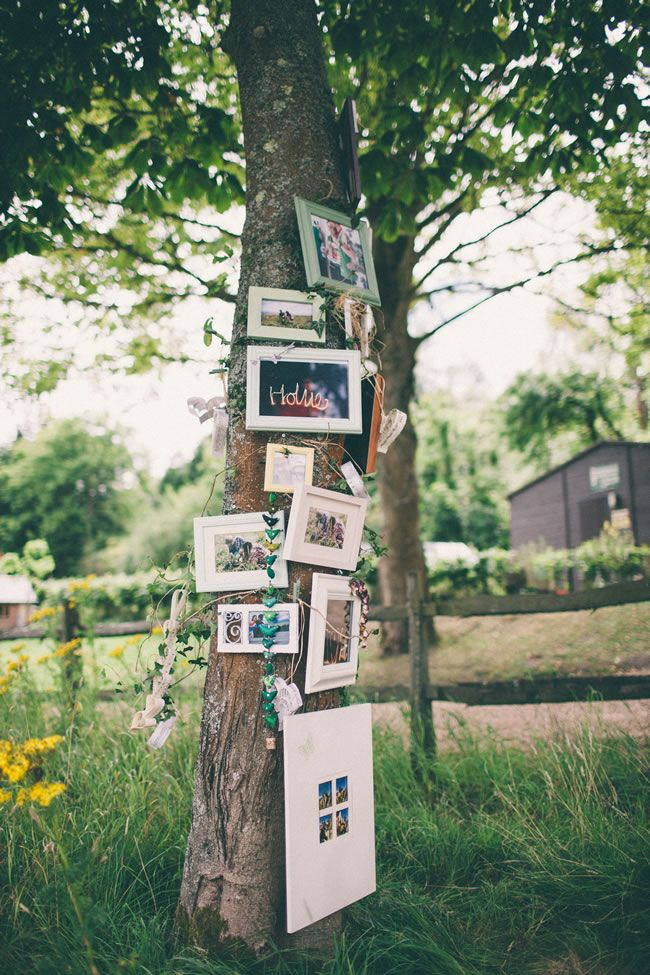 Trees, tractors and hay bales in this British country wedding!