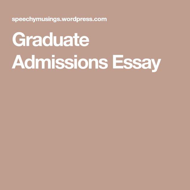 Graduate admissions essay help vcu