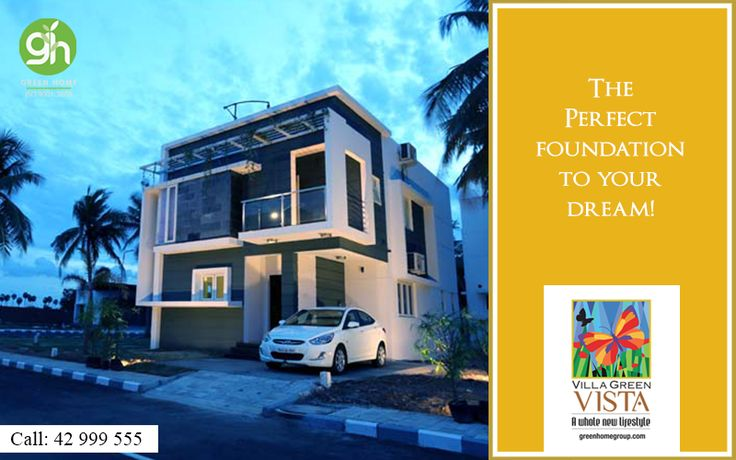 A perfect foundation to your dream. Own a dream house in the prime location with Green Home Group.  http://bit.ly/GreenHomeVillagreenVista | 📞 044-42999555 #GreenHome #GreenHomeGroup #VistaForYou #EcoFriendly #LifeStyle