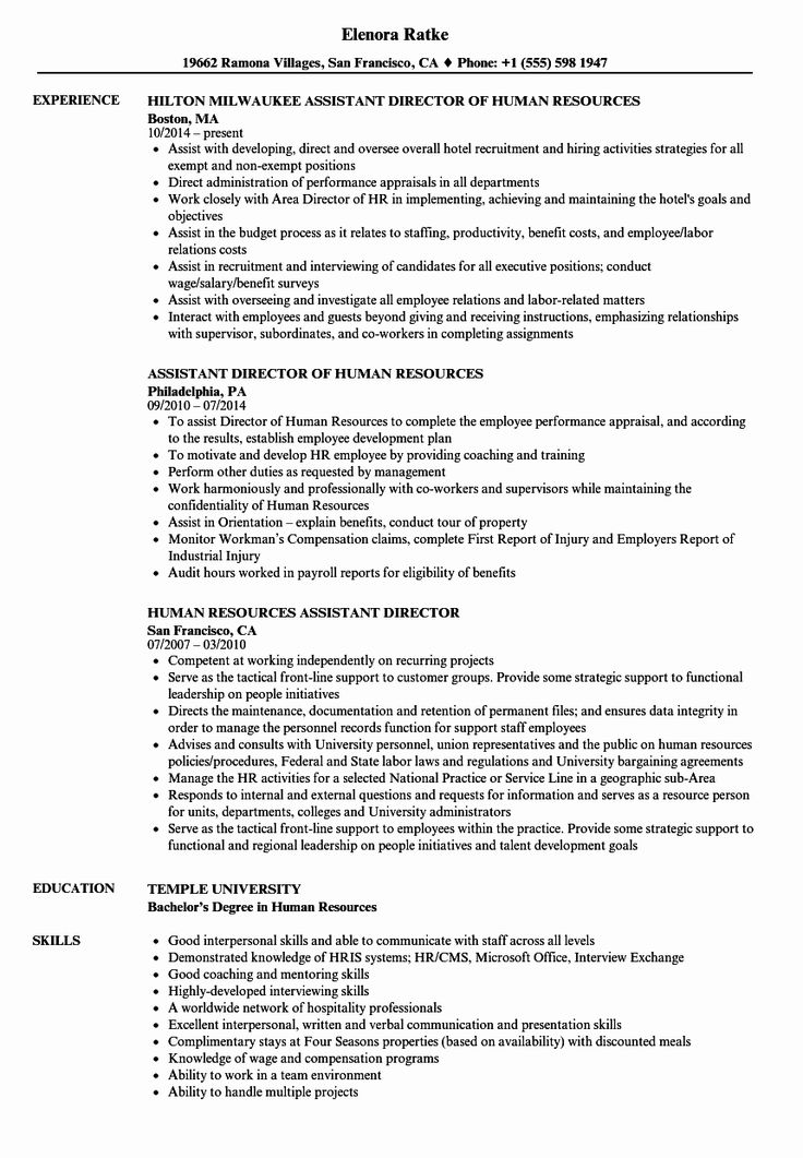 19++ Hr assistant resume examples Format