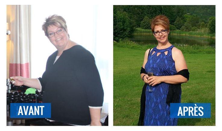 Transformation d'Any Valcourt. Elle a perdu 70 livres grâce à l'aide et au support de son entraîneur et sa nutritionniste!