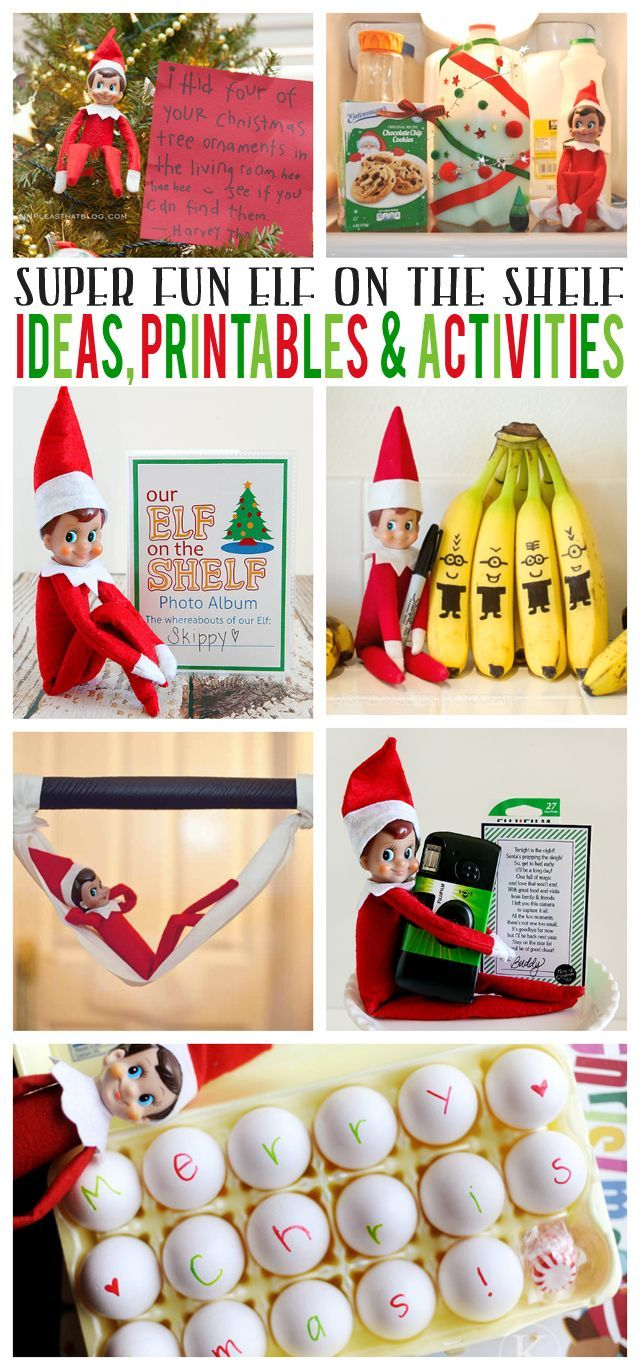 Elf On The Shelf Ideas, Printables & Activities eighteen25
