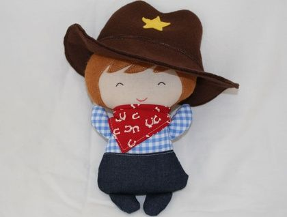 Tiny tot mini cowboy doll - ready for adoption