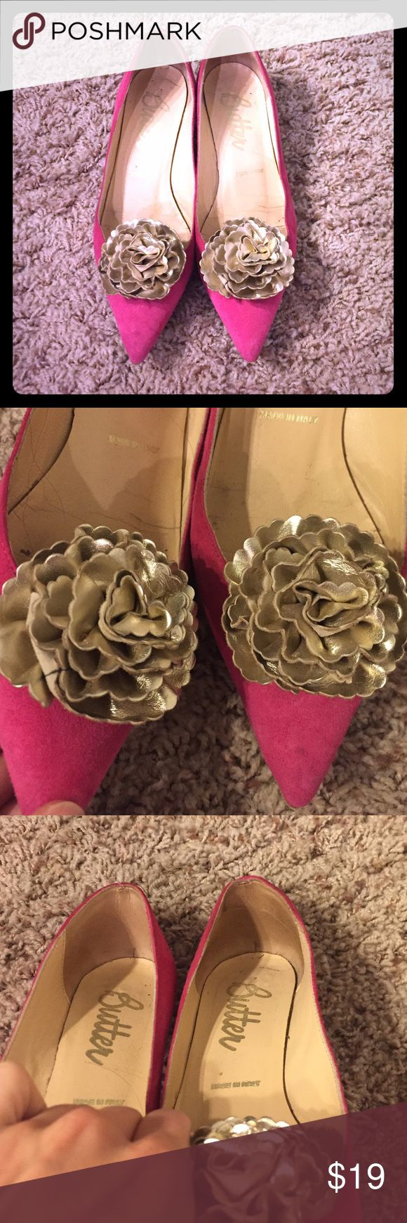 Selling this Butter pink floral shoes on Poshmark! My username is: dianeisacat. #shopmycloset #poshmark #fashion #shopping #style #forsale #Butter Shoes #Shoes