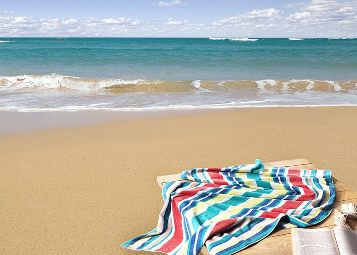 Velour Cotton Beach Towel