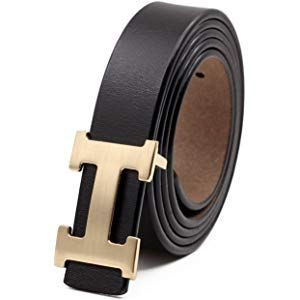 413a138c422 Women s Cowhide Leather Belt Fashion Buckle for Pants Jeans Shorts Ladies  Design Genuine Belts