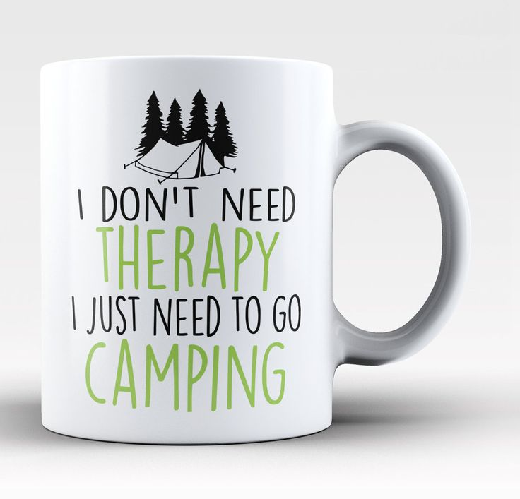 wholesale jewellery suppliers Camping Therapy Coffee Mug
