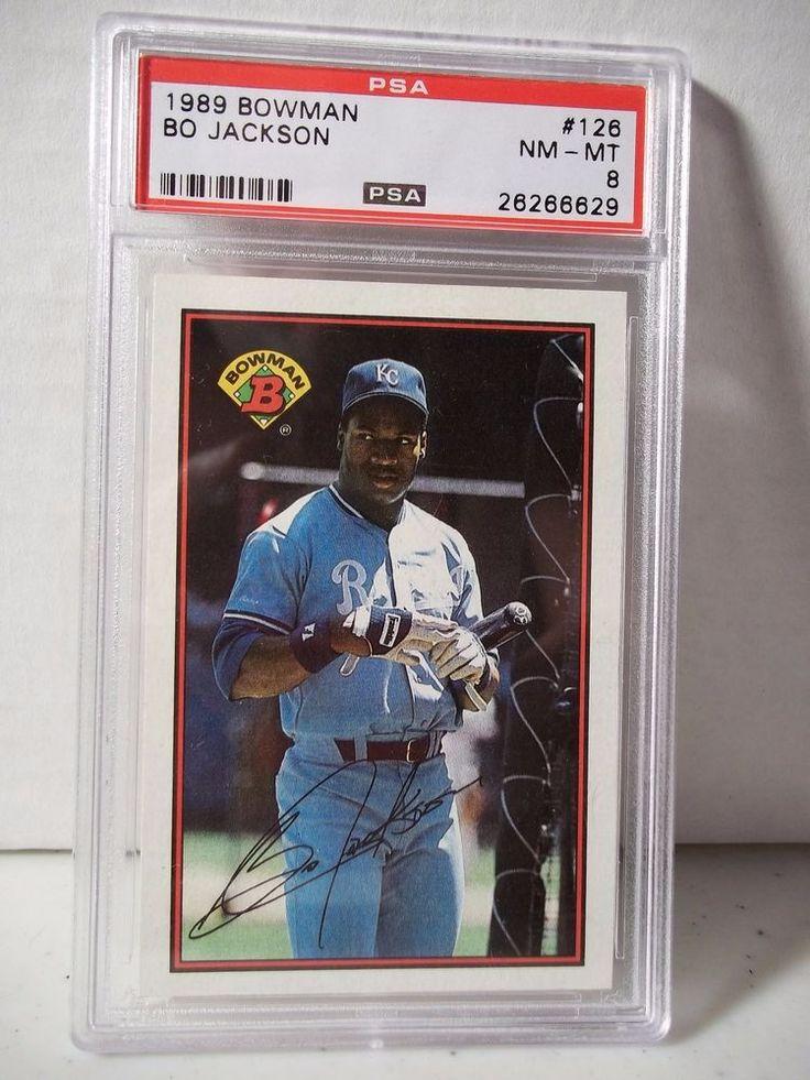 1989 bowman bo jackson psa nm mt 8 baseball card 126 mlb