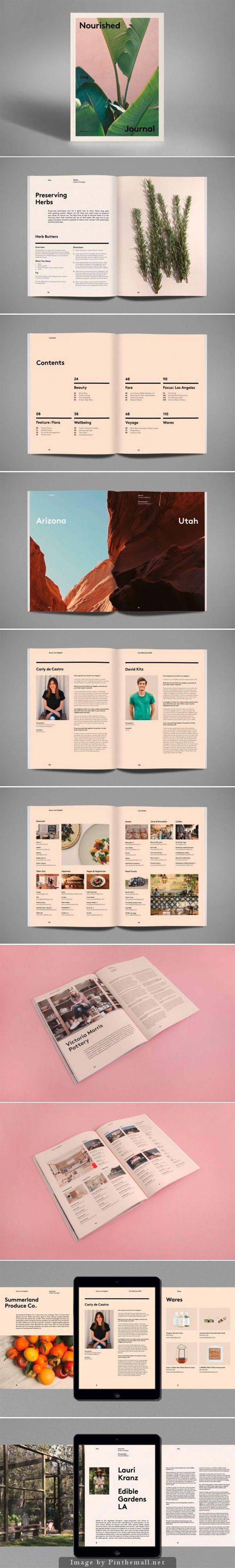 Nourished Journal | Sept. 2014. #graphicdesign #layoutmagazine