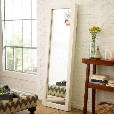 My dream floor length mirror for the bedroom: Parsons Floor Mirror - White Lacquer   west elm
