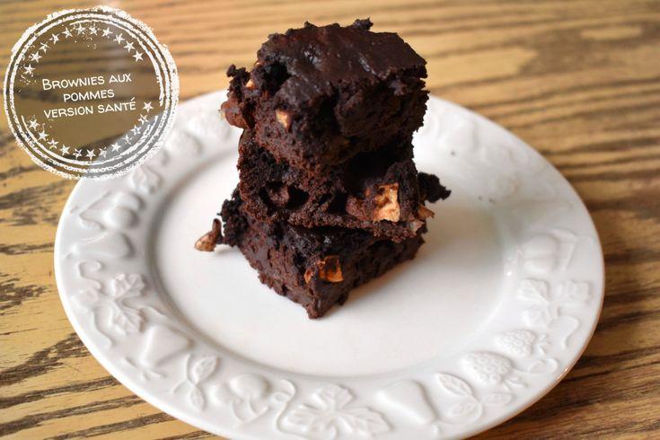 Brownies aux pommes version santé – Au bout de la langue