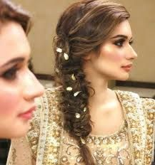 mehndi hairstyles with paranda - Google Search