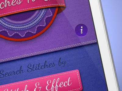 The world is in serious need of more stitched apps - especially if they're as colourful as this one! :-)