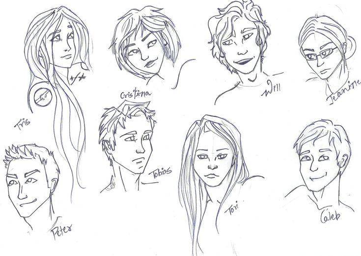 Tris, Christina, will, Jeanine, Peter, Tobias, Tori and