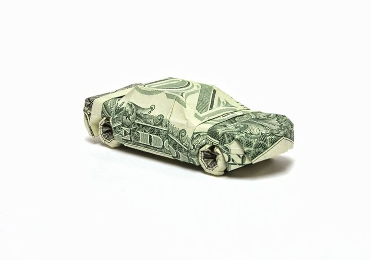 car made from dollar bill origami by won park #Eas…