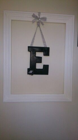 My creation of the hanging letter (monogram) :-)