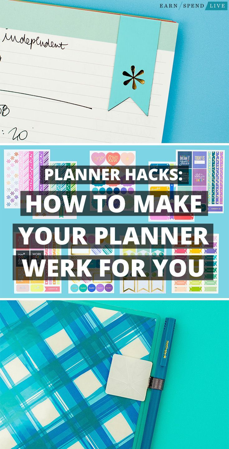 Planner Hacks: How to Make Your Planner Work for You. Planner tips. How to use a planner. How to customize your planner.