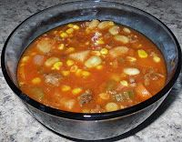 Recipes For My Boys: Hamburger Vegetable Soup - call it HOBO Stew for those picky kids.