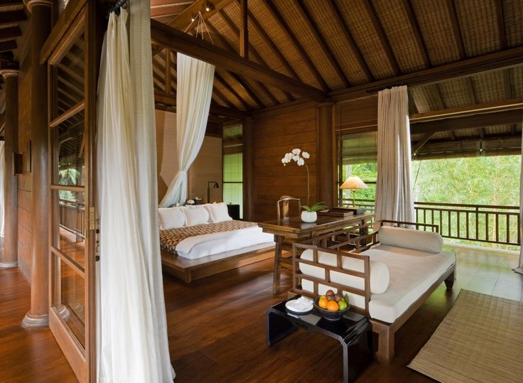Como Shambhala Estate Bali  Wooden And White Pavilion Style Guest Room With  Balcony Part 42